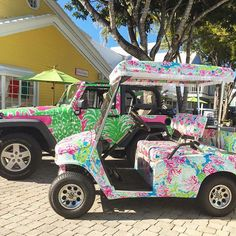 Big and little - Say hellllooo to our @ocean_reef_club golf cart. #FleetOnFleek