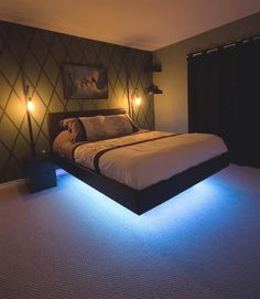 Enhance Your Dream with Our Amazing Floating Bed Frame Design Ideas – BosiDOLOT The post Enhance Your Dream with Our Amazing Floating Bed Frame Design Ideas appeared first on Baby Room Ideas. Contemporary Bedroom, Modern Bedroom, Diy Bedroom, Stylish Bedroom, Budget Bedroom, Master Bedrooms, Modern Beds, Master Bed Room Ideas, Girls Bedroom