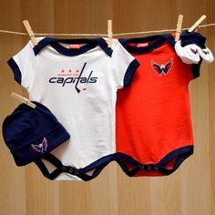 Capitals Baby Onesie Hat Booties 4PC Gift Set