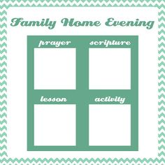 A Year of FHE: Family Home Evening Charts - Option 2