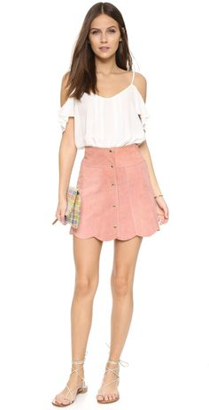 Stoned Immaculate Marsha Suede Petal Skirt | SHOPBOP