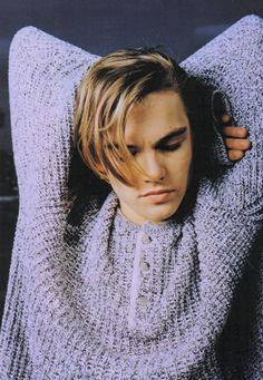Leonardo DiCaprio. HE HAS A SWEATER AND I LOVE SWEATERS AND I LOVE HIM.