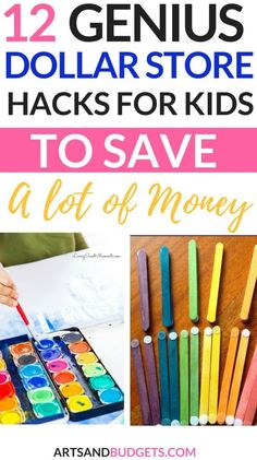 Dollar store kid hack | Dollar Store Hacks For Kids | save money fast | kid activities | fun stuff for toddlers to do | life hacks | budget | Dollar tree | #dollartree  #dollarstore #dollarstorecrafts 10 Dollar Store, Dollar Store Hacks, Dollar Store Crafts, Make Money Blogging, Money Tips, Money Saving Tips, Saving Ideas, Ways To Save Money, How To Make Money