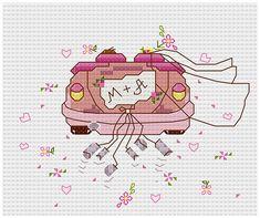 Wedding car  Cross stitch pattern Wedding by PatternsTemplates