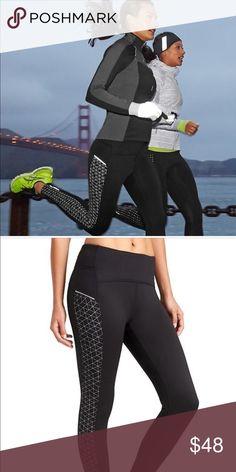 Athleta Reflective Power Lift Tights Reflective Tights Athleta Pants Track Pants & Joggers