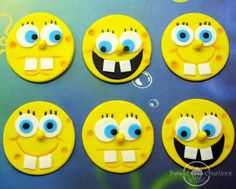 Edible Fondant SpongeBob SquarePants by SweetCreationByCarey