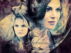 Emma & Regina - once-upon-a-time Wallpaper