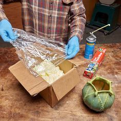 Protect Fragile Items by using expanding foam. If you need to send something fragile...spray expanding foam in a box, cover with plastic wrap, insert item, cover with more plastic wrap and spray again with the foam.