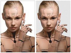 How to Create a Human Cyborg Photo Manipulation in Adobe Photoshop Futuristic Makeup, Futuristic Art, Photoshop Face, Adobe Photoshop, Cyborg Tattoo, Cyberpunk Tattoo, Robot Makeup, Human Cyborg, Cyborg Girl