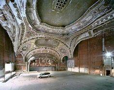 Michagan Theater in Detroit - built 1926, now a three storey car park