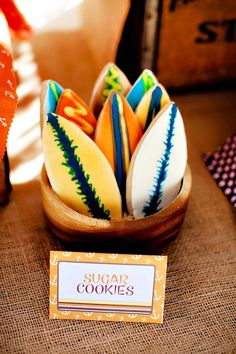 Vintage Surf Theme Party {Father & Son Joint Birthday}Surf Cookies