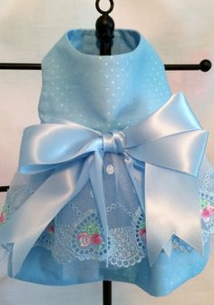 XXSMALL Chihuahua Tea Cup Yorkie Lt Blue by princessamee on Etsy, $50.00