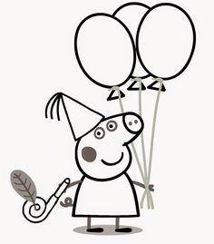 Desenhos para colorir da Peppa | Pra Pintar - Desenhos para colorir