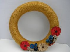 Rustic & Whimsical Red Blue and Yellow by PumpkinButtBoutique