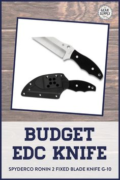 Need a high-quality budget EDC knife? Try the Spyderco Ronin 2 Fixed Blade Knife with G-10 handle for your urban everyday carry gear. Take advantage of this money-saving deal on everyday carry premium pocket knives while supplies last! Explore top-rated budget-friendly compact lightweight utility knives and other essential EDC gear at affordable prices from Gear Supply Company. #everydaycarry #edcknives #pocketknives #urbaneverydaycarry Edc Fixed Blade Knife, Edc Knife, Ronin 2, Edc Carry, Prepper Supplies, Edc Essentials, Urban Edc, Everyday Carry Items, Urban Bags