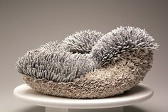 Zemer Peled; 'Pair by the sea' no.1, 2014 28*50*59 cm; Porcelain shards, fired clay
