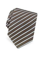 Forzieri Gold Line - Brown and Blue Ribbon Striped Silk Tie Add a touch of Italian sophistication with Forzieris distinguished Gold Line tie in woven silk featuring clean, sky blue diagonal stripes over a deep chocolate brown background. Gift box included http://www.comparestoreprices.co.uk/mens-clothing-accessories/forzieri-gold-line--brown-and-blue-ribbon-striped-silk-tie.asp