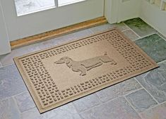 Super durable dachshund doormat gives you and guests a place to wipe your paws. Wiener dog lover gift idea for birthdays, Christmas, hostess & housewarming. Boxer Dogs, Beagle, Dachshunds, Weiner Dogs, Doggies, Dachshund Puppies, Contemporary Door Mats, Dog Door Mat, Mould Design
