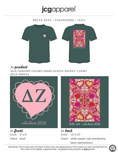 Delta Zeta Valentines Shirt   Sorority Valentines   Greek Valentines #deltazeta #deezee #dz #valentines #day #abstract #heart #galentines