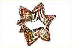 """Safari Cuff"" (inspired by Contemporary Geometric Beadwork) - Delica, seed, and drop beads. copyright 2013 Barbara Briggs Designs."