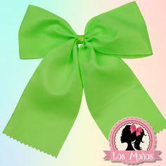 Moño verde fosforescente