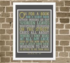 Book Lover Typography Print