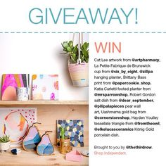 Creative mummas: this Mother's Day giveaway is for you!  We've teamed up with some incredible independent designers, makers and retailers to offer the ultimate prize pack for the special creative mums out there who love art, ceramics and handmade.  The winner will receive: 1 x Cat Lee artwork from @artpharmacy (winner's choice), 1 x La Petite Fabrique de Brunswick porcelain cup from @six_by_eight, 1 x @zillpa hanging basket, 1 x Brittany Bass print from @papercookie_shop, 1 x Katia Carletti…