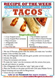 Recipe of the Week - April 17th - Tacos