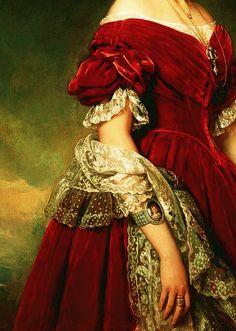 Art, detail .. X ღɱɧღ ||       Louise d'Orléans, Franz Xaver Winterhalter
