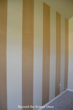 Painting Gold & Silver Metallic Stripes   Beyond the Screen Door