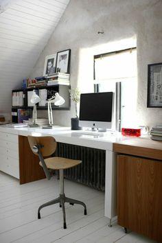 Slanted ceiling....mac computer.....