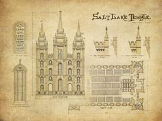 Salt Lake Temple Blueprint