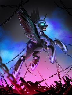 Nightmare moon trapped in the moon Dessin My Little Pony, My Little Pony Drawing, Mlp My Little Pony, My Little Pony Friendship, Princesa Celestia, Celestia And Luna, Mlp Fan Art, Dragons, Imagenes My Little Pony