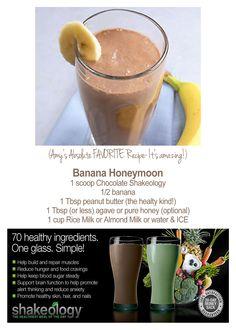 Chocolate Shakeology Banana Honeymoon Recipe. Get your Shakeology at www.beachbodycoach.com/kaleyballard