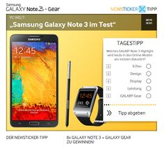 On Facebook now a prize draw has started, there you have the option to win one of eight Samsung GALAXY Note GALAXY 3 together with the GALAXY Gear