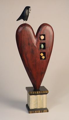 """Three Treasures"" ~ Wood Sculpture created by Mark Orr"