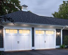 @Clopay Doors, Coachman collection Polyurethane insulation. Square glass top section.