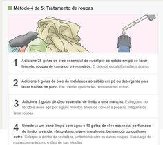 Tratamento de roupas - Óleos Essenciais