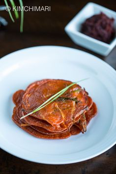 Korean Gochujang pancake or Jangtteok is a simple and easy 5 ingredient recipe that features the flavor of gochujang in the best way. Ready in 15 minutes! via @kimchimari
