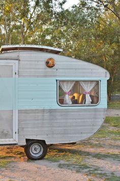 Old Vintage Caravan 1960s Franklin Mini suits Classic Cars Hotrod Holden Ford on EBAY  #camper #trailer RV Van