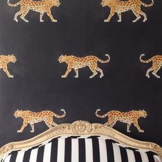 Panthera wallpaper in black, Caitlin McGauley