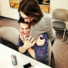 Mitch Grassi and Esther Kaplan. <3 SO CUTE!