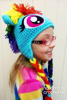 Pony hat, created with love by Handmade Crocheted Hats  https://www.facebook.com/HandmadeCrochetedHats