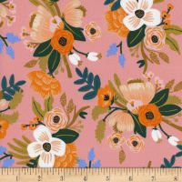 Cotton + Steel Rifle Paper Co Rayon Amalfi Lively Floral Coral