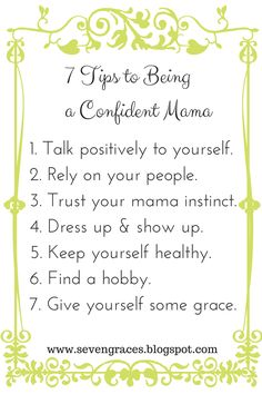 7 Tips For Being A Confident Mama -My guest post for Moms Without Answers