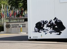 Blood dice – At United Nations Headquarters in Geneva, Switzerland.