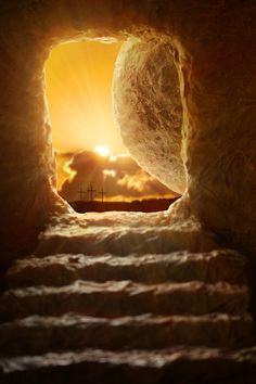 Photo about Open tomb of Jesus with sun appearing through entrance - Shallow depth of field on stone. Image of light, christianity, garden - 67860899 Images Du Christ, Pictures Of Jesus Christ, Bible Pictures, Cross Pictures, Christus Tattoo, Image Jesus, Jesus Is Risen, He Is Risen, Jesus Wallpaper