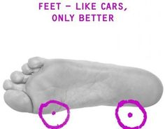 "Check out this @Behance project: """"Feet - like cars, only better"""" https://www.behance.net/gallery/11636249/Feet-like-cars-only-better"
