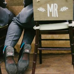 "Funny wedding with our "" help me "" shoe decal."