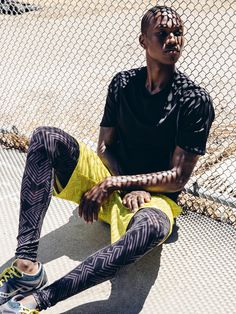 Without Walls Black Linear Geo Run Tight - Urban Outfitters Mens Tights, Shorts With Tights, Tights Outfit, Leggings, New Man Clothing, Running Wear, Running Style, Athletic Fashion, Athletic Style